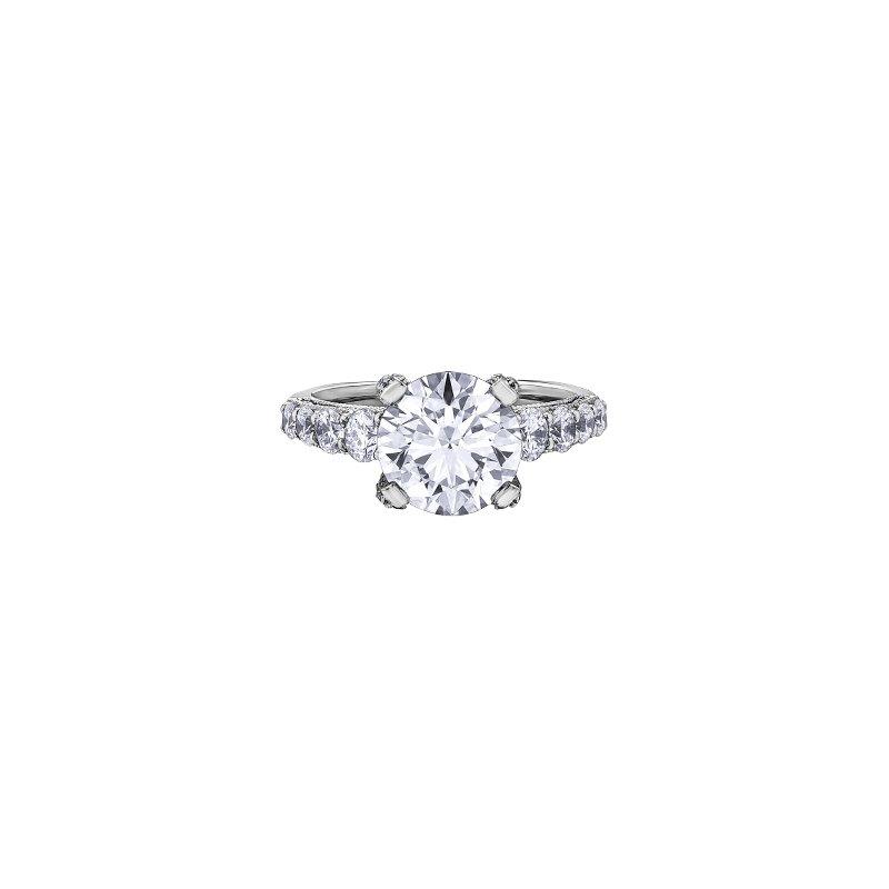 Maple Leaf Diamonds Three Carat Diamond Set Engagement Ring in White Gold