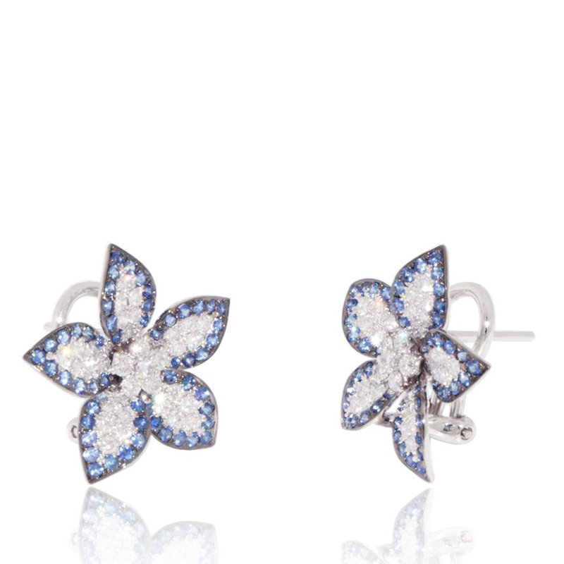 Davidson's Signature Pave Flower Stud Earrings