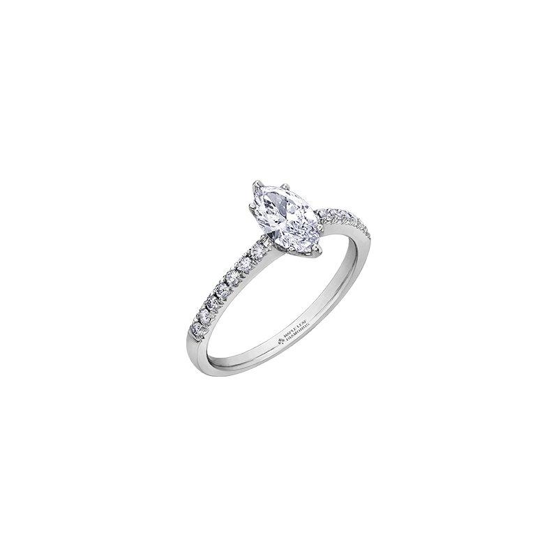 Maple Leaf Diamonds Eternal Flames Marquise Diamond Engagement Ring