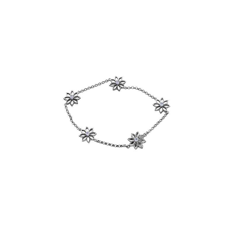Maple Leaf Diamonds Spring Lilies Diamond Bracelet