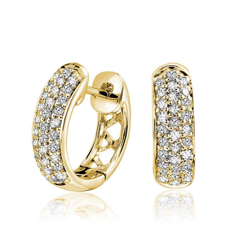 RnB Jewellery Pave Diamond Huggie Earrings