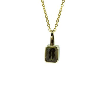 Rectangular Green Tourmaline Pendant