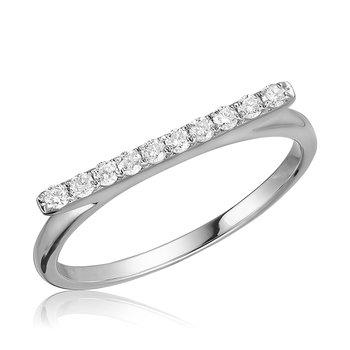 Horizontal Bar Diamond Ring