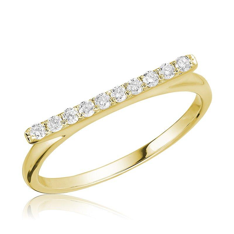 RnB Jewellery Horizontal Bar Diamond Ring