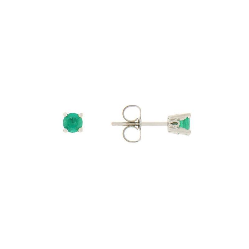 Davidson's Signature 4 Prong Emerald Stud Earrings