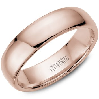 Classic Wedding Band in Rose Gold