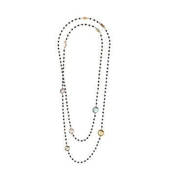 Multi-Stone Long Necklace