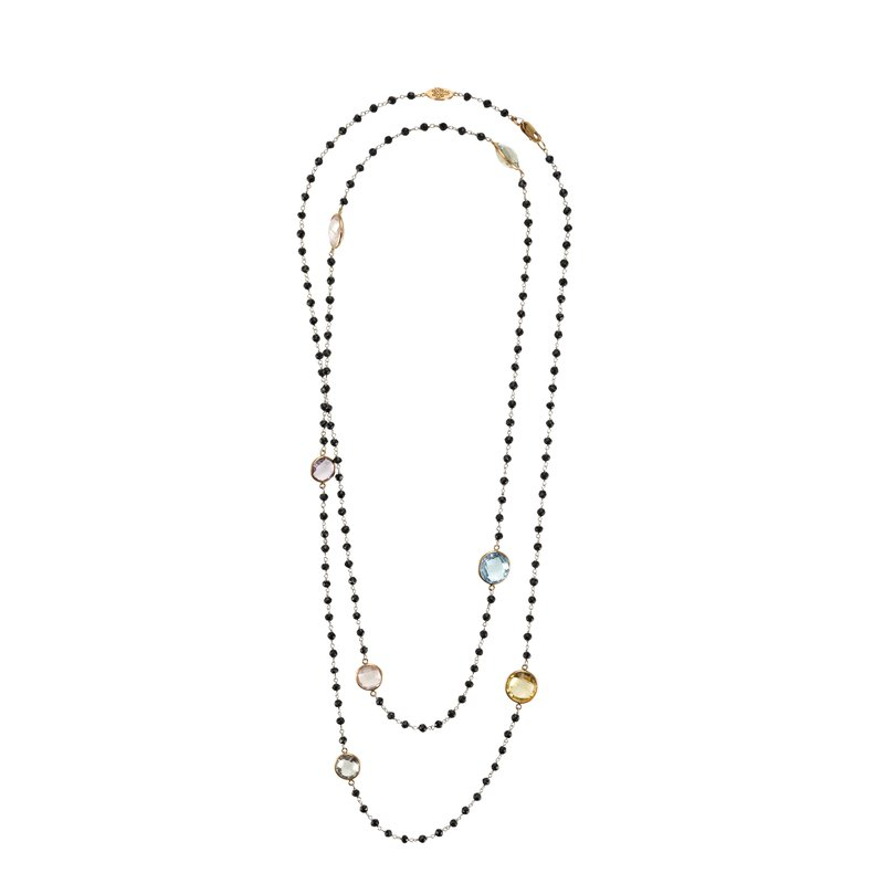 B Couture Multi-Stone Long Necklace