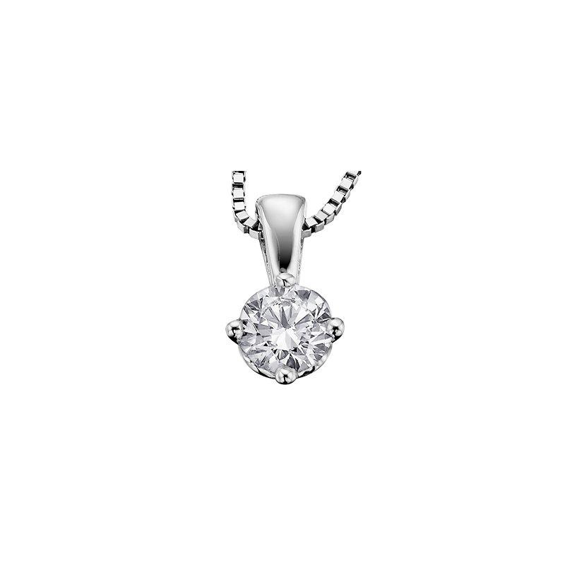 Maple Leaf Diamonds Eternal Flames Solitaire Pendant
