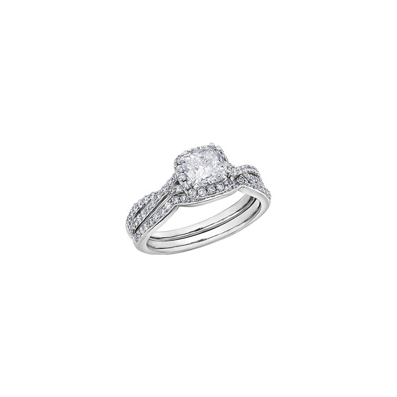 Maple Leaf Diamonds Love Letters Infinity Engagement Ring