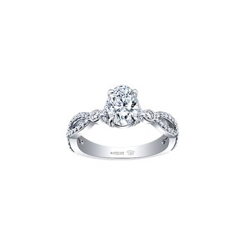 Spring Lily Infinity Oval Engagement Ring