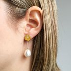 Davidson's Signature Mother of Pearl and Pearl Drop Earrings