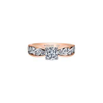 Summer Garden Infinity Ring in Rose Gold