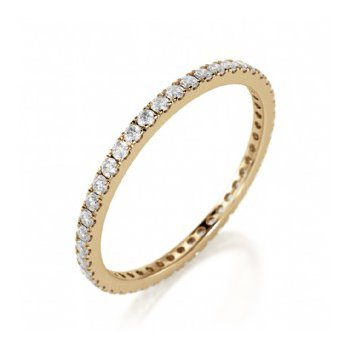 Full Eternity Prong Set Band in Yellow Gold
