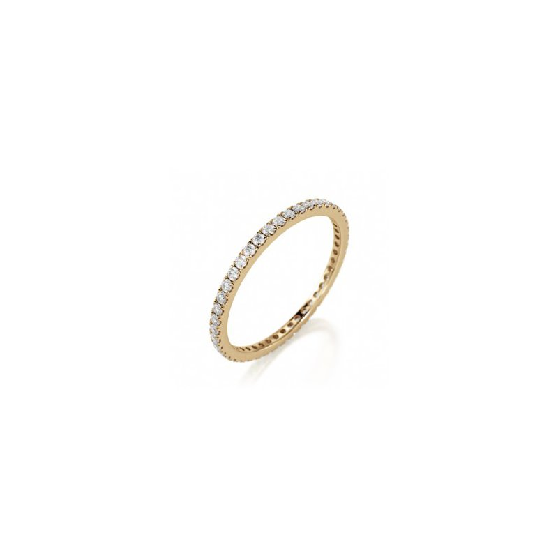 CrownRing Full Eternity Prong Set Band in Yellow Gold