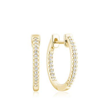 Small In and Out Diamond Hoop Earrings