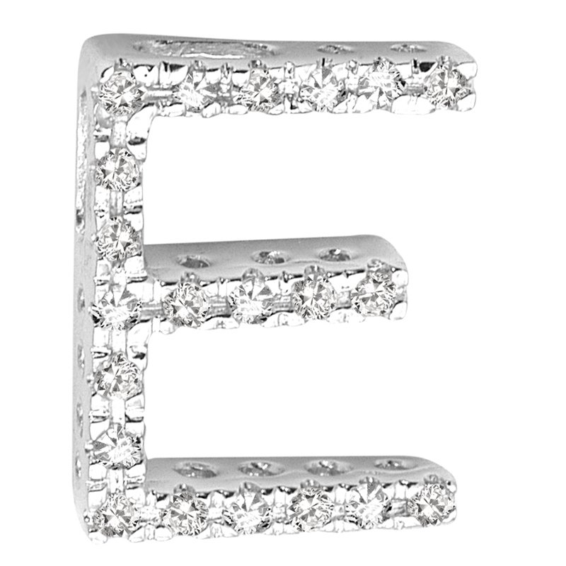 RnB Jewellery Block Letter Initials in White Gold