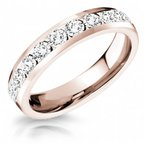 CrownRing Full Eternity Channel Set Band in Rose Gold