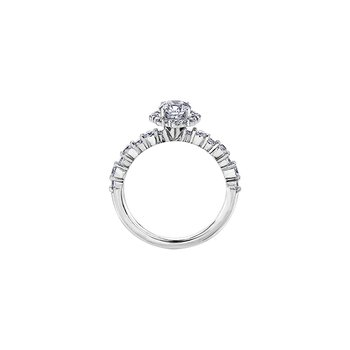 Eternal Flames Vintage Inspired Halo Engagement Ring