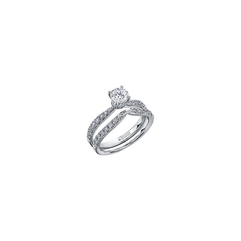 Maple Leaf Diamonds Circle of Love Tapered Diamond Set Engagement Ring in White Gold