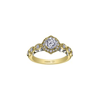 Spring Lily of the Valley Ring in Yellow Gold