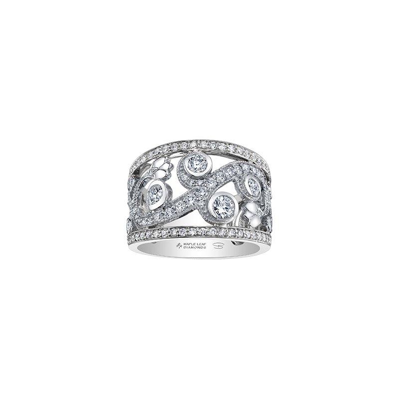 Maple Leaf Diamonds Enchanted Garden Ring