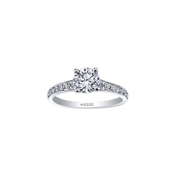 Circle of Love Tapered Diamond Set Engagement Ring