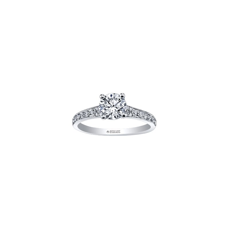 Maple Leaf Diamonds Circle of Love Tapered Diamond Set Engagement Ring