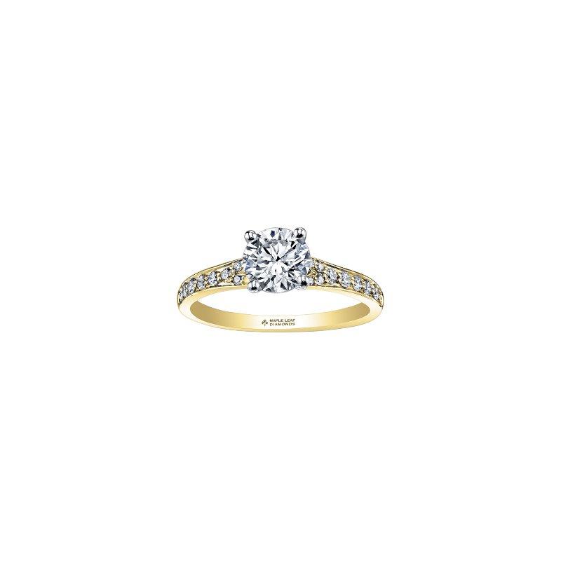 Maple Leaf Diamonds Circle of Love Tapered Diamond Set Engagement Ring