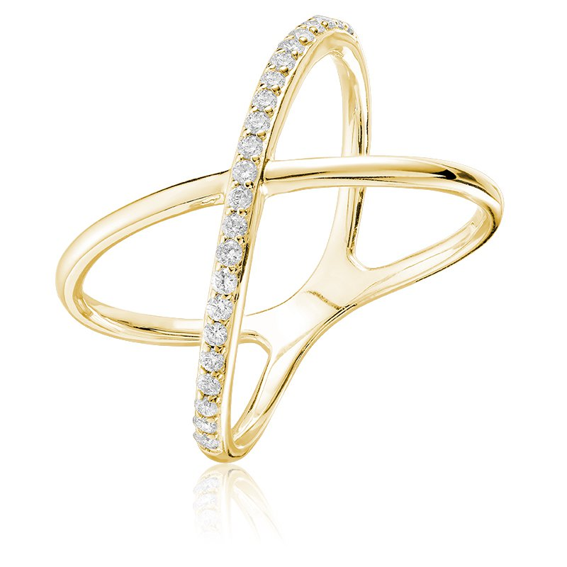 RnB Jewellery Diamond Crossed Ring