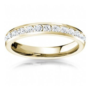 Full Eternity Channel Set Band in Yellow Gold
