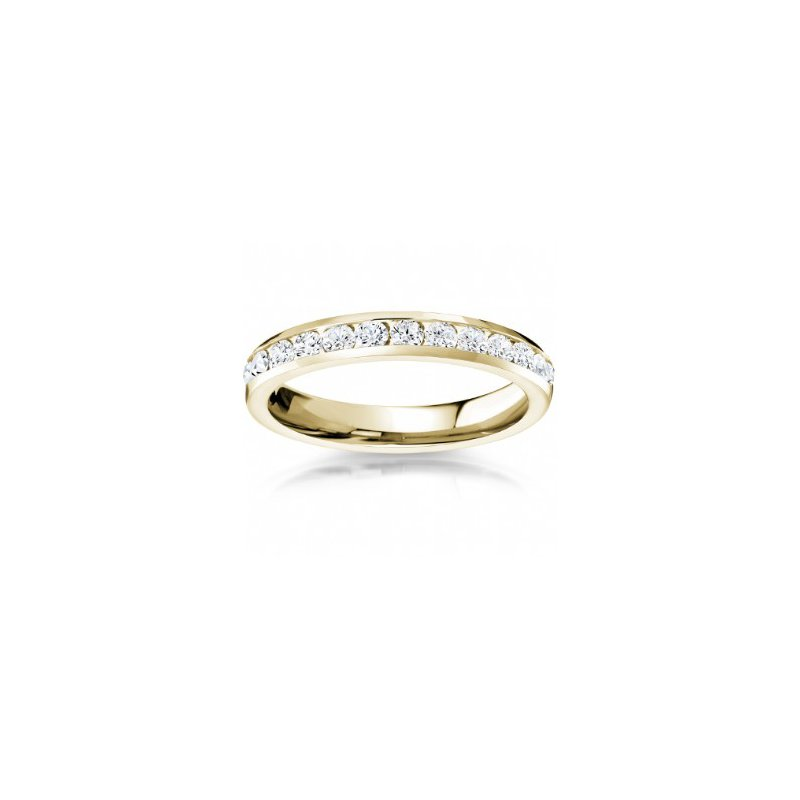 CrownRing Full Eternity Channel Set Band in Yellow Gold