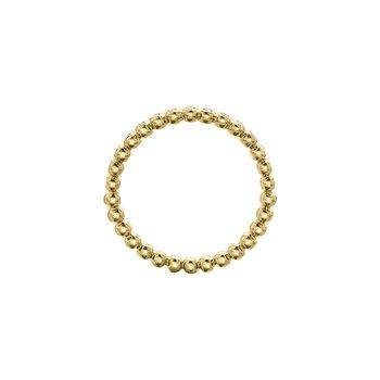 Diamond Beaded Ring in Yellow Gold