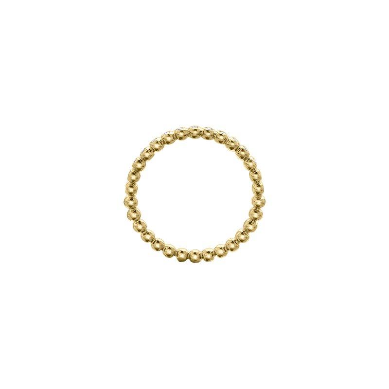 Maple Leaf Diamonds Diamond Beaded Ring in Yellow Gold