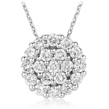 Large Diamond Cluster Pendant