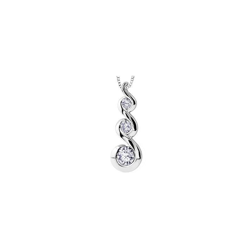 Maple Leaf Diamonds Tides of Love Pendant