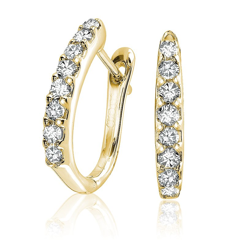 RnB Jewellery Large Diamond Huggie Earrings