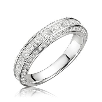 Diamond Mixed Cut Channel Set Ring
