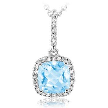 Gemstone and Diamond Drop Pendant