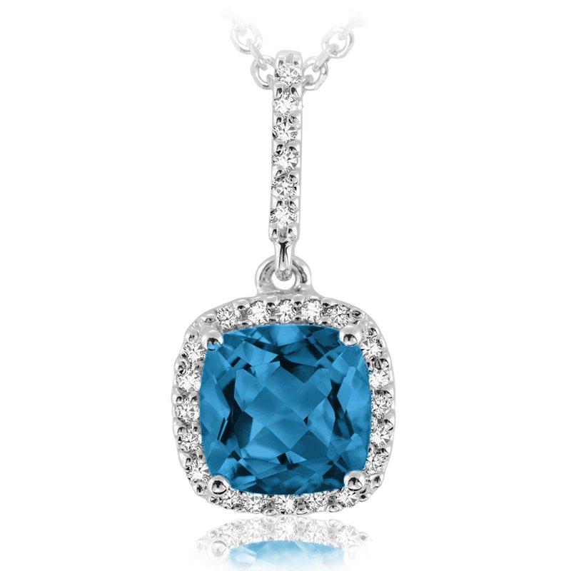 RnB Jewellery Gemstone and Diamond Drop Pendant