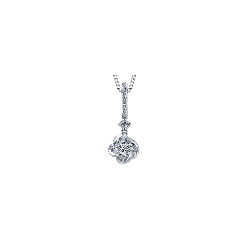Maple Leaf Diamonds Wind's Embrace Drop Pendant