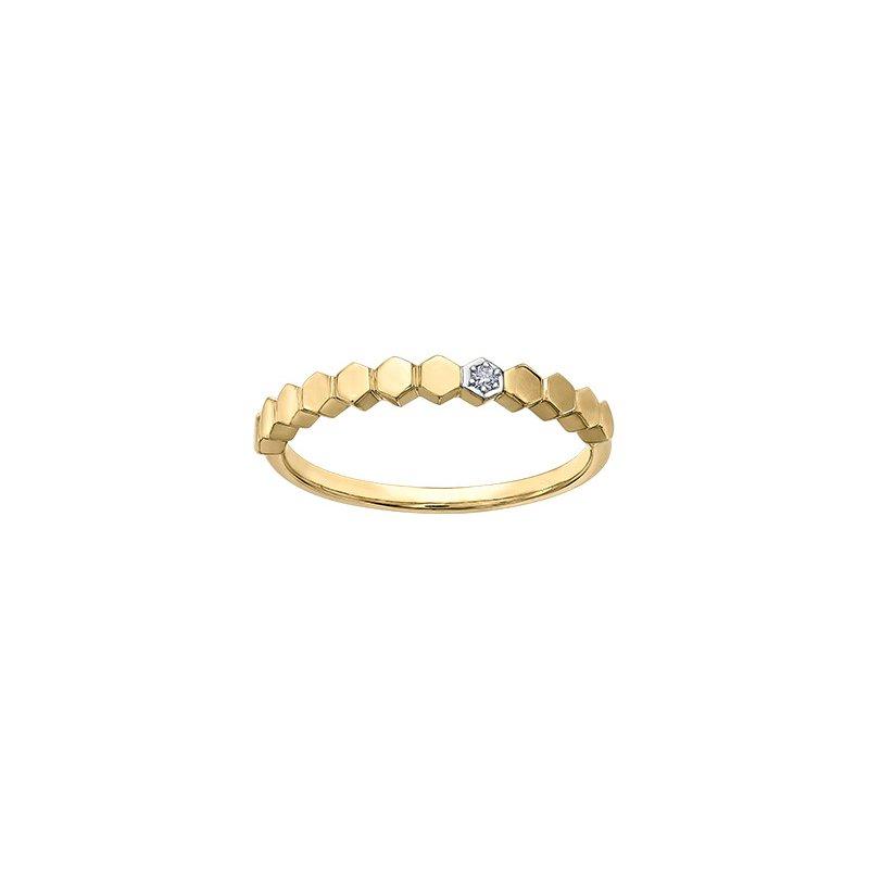Maple Leaf Diamonds Honeycomb Stacking Ring