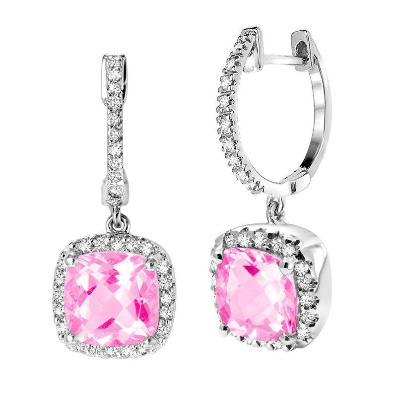 RnB Jewellery Gemstone and Diamond Dangle Earrings