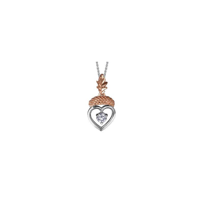 Maple Leaf Diamonds Autumn into a Mighty Oak Pendant
