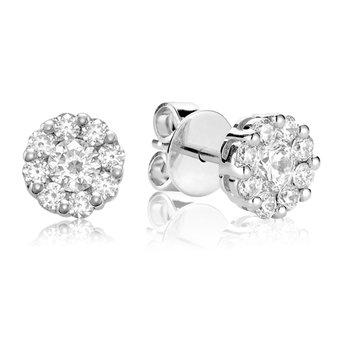 Small Diamond Cluster Stud Earrings