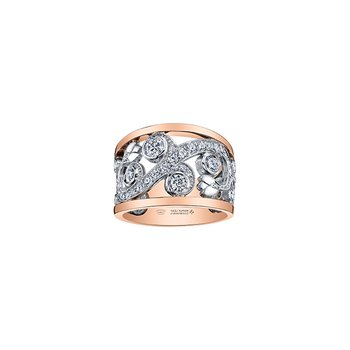 Summer Enchanted Garden Ring in Two Tone Gold