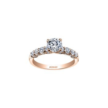 Tides of Love Diamond Set Engagement Ring in Rose Gold