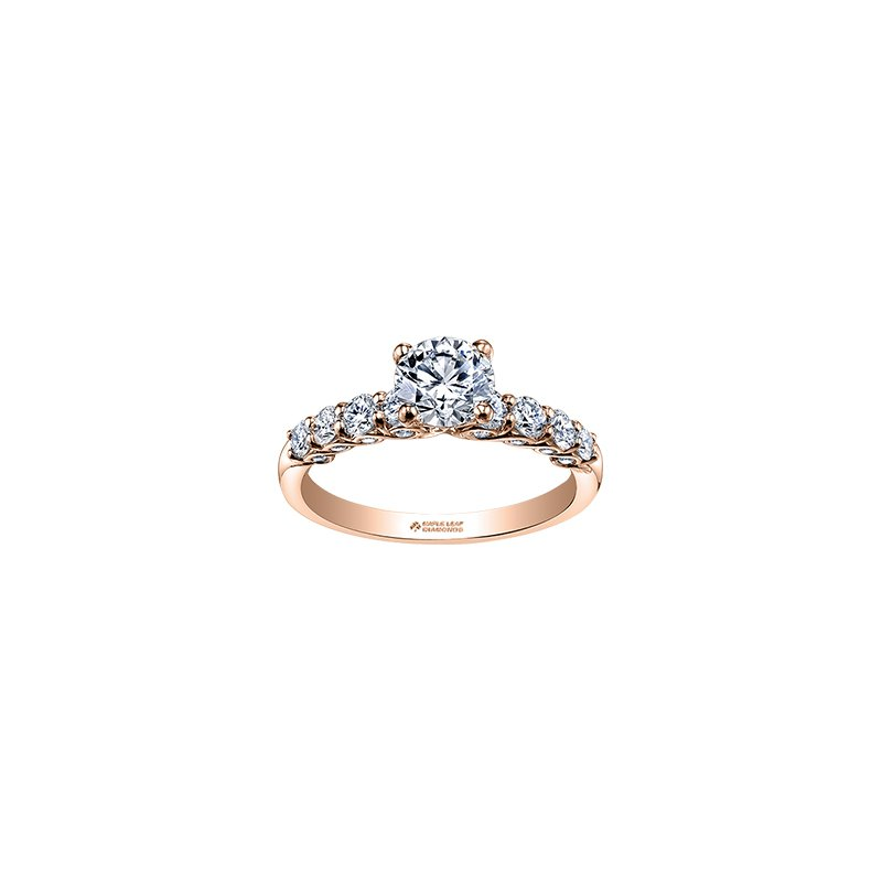 Maple Leaf Diamonds Tides of Love Diamond Set Engagement Ring in Rose Gold