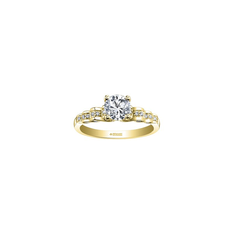 Maple Leaf Diamonds Tides of Love Waves Engagement Ring in Yellow Gold