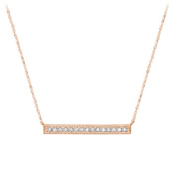Horizontal Bar Diamond Necklace